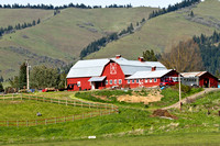Farm in the Cascade range