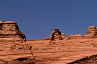 Delicate arch from the lookout